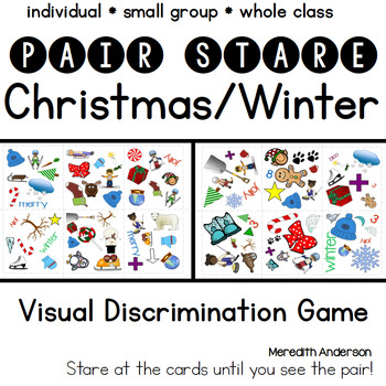 Christmas Party Game or Winter Game - Pair Stare