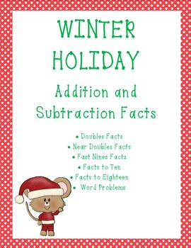 Christmas Winter Holiday Addition & Subtraction With Word Problems Common Core