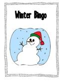 Christmas Winter Holiday Bingo Game