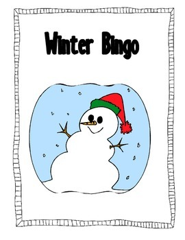 Christmas Winter Holiday Bingo Game