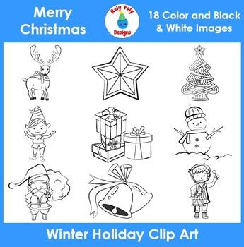 Christmas Winter Holiday Clip Art Set