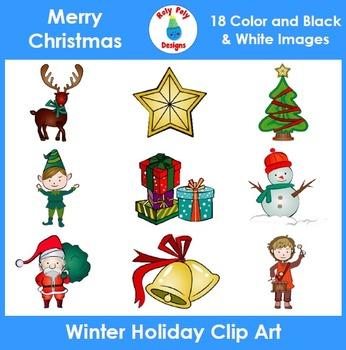 Christmas Winter Holiday Clip Art Set