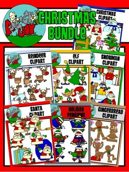 Christmas / Winter Holiday Clipart - Graphics - BUNDLE SET