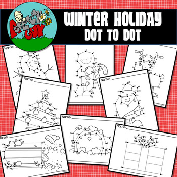 Dot to Dot / Connect the Dots 1 - 25 - CHRISTMAS / WINTER