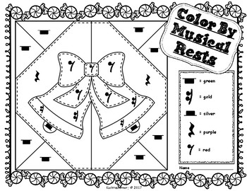 Christmas/Winter/Holiday Edition: Color By Music Activity Collection - PDF's