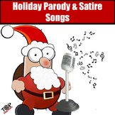 Christmas Activities Winter Holiday Parody and Satire Song Exercise