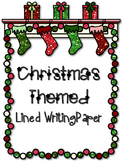 FREE Christmas / Winter Holiday Themed Writing Paper