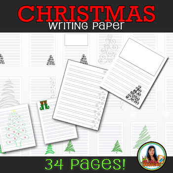 Christmas Winter Holiday Writing Paper for Elementary Classroom