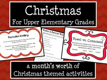 Christmas & Winter Holidays Activities Bundle