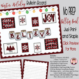 Christmas Winter Holidays Red Buffalo Plaid Bulletin Board
