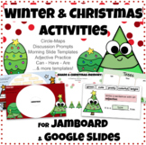 Christmas Winter Jamboard Google Slides Templates