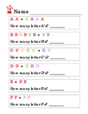 Christmas Winter Kindergarten Math Addition Up to 12 How Many Alphabet Shapes 5p
