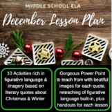 Christmas / Winter Lesson Plan Pack PERFECT for Middle Sch