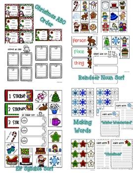 Winter and Christmas Literacy Unit - Center Mega Bundle Pack!!!