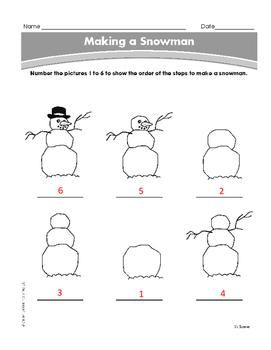 Christmas Winter Make a Snowman Grade PK-1