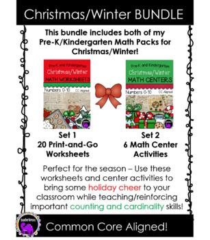 Christmas/Winter Math BUNDLE for Pre-K and Kindergarten