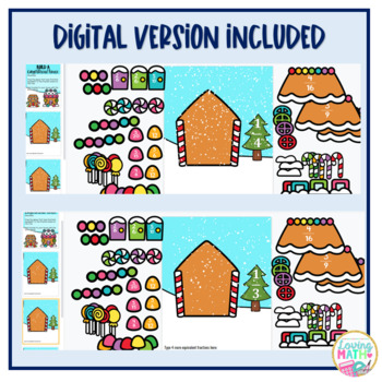Christmas  and Winter Math Craft  Equivalent Fractions