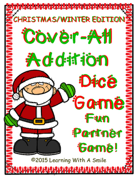 Christmas/Winter Math Game COVER-ALL ADDING Partner Game