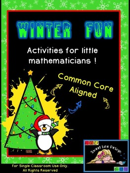 Christmas / Winter Math NO PREP Packet - Common Core Aligned {Sweet Line Design}