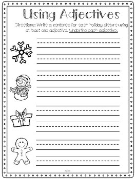 Christmas/Winter Math and Literacy Pack