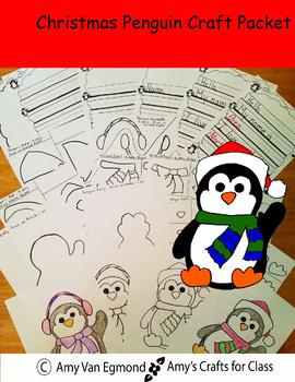 Penguin Craft: Christmas Penguin Craft Packet
