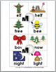 Rhyming Words Matching  Activity - Christmas Literacy