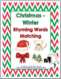 Christmas Rhyming Words Matching Activity