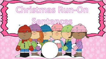 Christmas / Winter Run-On Sentence Task Cards