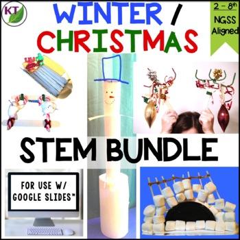 Christmas - Winter STEM Challenge Bundle 1:1 PAPERLESS