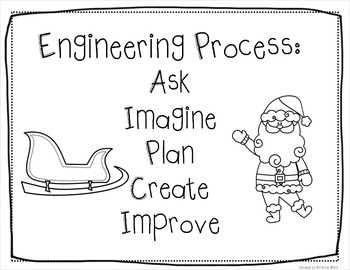 Christmas Winter STEM Engineering Challenge Bundle PERSONALIZED