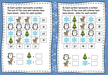 Christmas / Winter Shape Logic Puzzles