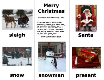 Christmas / Winter Sign Language Vocab Cards