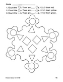 Winter Snow Snowflakes Count and Color the Shapes PK - 1