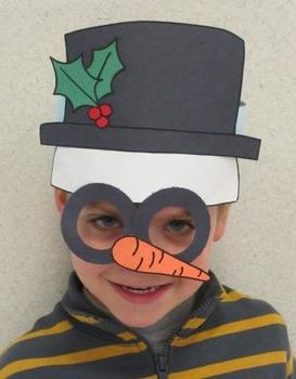 Christmas Winter Snowman Sentence Strip Headband