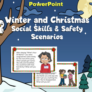Christmas Winter Social Skills Scenario Task Cards