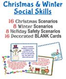 Christmas & Winter Social Skills Scenario Task Cards