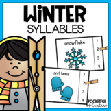 Winter Syllables Clip Cards