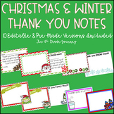 Christmas & Winter Thank You Notes--Editable & Pre-Made