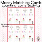 Christmas Winter Theme Money Matching Cards