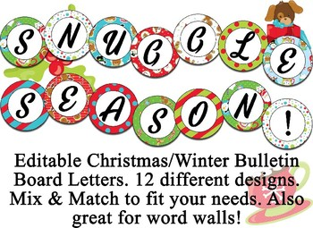 Christmas, Winter Themed Editable Bulletin Board Banner