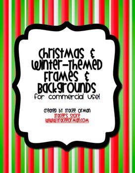Christmas & Winter Themed Frames & Backgrounds