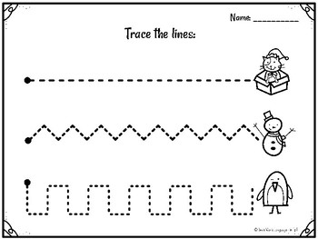 Christmas Winter Tracing Fine Motor Skill Activities Trace