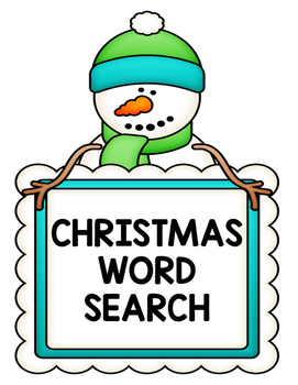 Christmas Winter Word Search Second Grade