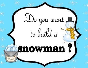 Snowman Winter Writing Activities