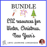 Christmas, Winter, and New Year Activities ENGLISH BUNDLE