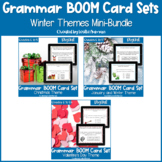 Christmas, Winter, and Valentine's Day Grammar BOOM Cards BUNDLE