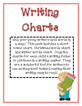 Christmas, Winter and Vowel Writing Charts