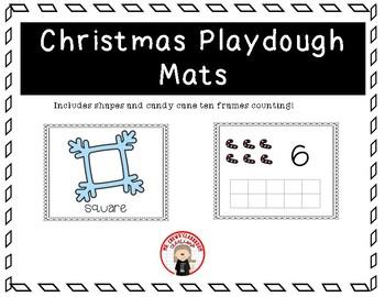 Christmas/Winter play dough mats