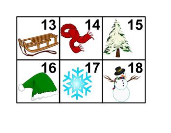 Christmas/Winter theme Calendar Cards