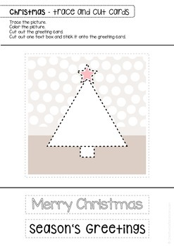 Christmas Winter tracing & cutting - DIY greeting cards - art work center - OT